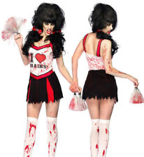 UK Seller Cheerleader Zombie Costume M 10 Day the Dead Varsity Girl Leg Avenue