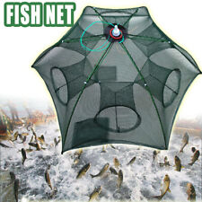 Large Fishing Trap Automatic Folding Cast Cage Crab Fish Net Rivers Lakes
