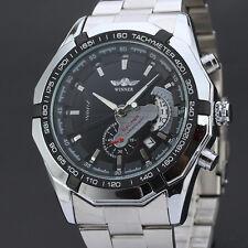 Exklusiv WINNER Herrenuhr Edelstahl Armband Uhr automatik Silber