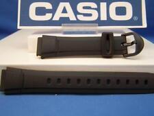 Casio watch band AQ-140. 16mm Black Resin Strap.Original Watchband/Strap