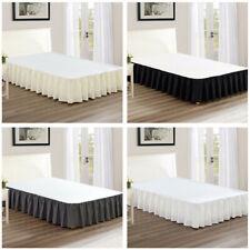 Dust Ruffle Bed Skirt Premium Luxury Brushed  Bedding Pleated Skirt Hotel Home