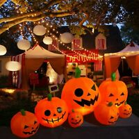 8FT Blow up Outdoor Yard Decoration Halloween Inflatable Pumpkin Ghost & Light