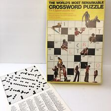 Vintage Springbok WORLDS MOST REMARKABLE CROSSWORD Jigsaw PUZZLE W/Sheets 500 Pc