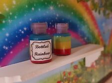 Bottled Rainbow quirky jar witch potion fairy garden magical 1:12th dolls house