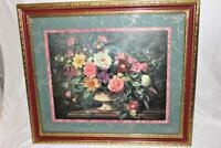 Albert Williams Professionally Framed Double Matted Art Print Floral Blossoms
