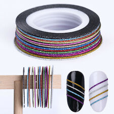 13 Color Rolls Matte Glitter Nail Striping Tape Line Manicure Sticker Decoration