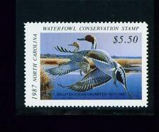 North Carolina State Duck Stamp 1987 $5.50 at face value