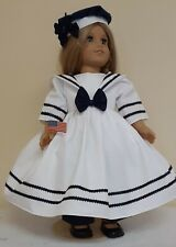 DOLL CLOTHES AND ACCESSORIES FITS AMERICAN GIRL DOLL'S. SAILOR OUTFIT FITS A/G.