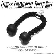 NEW Commercial Tricep Rope Fitness Gym Cable Attachment Exercise Equipment Gear