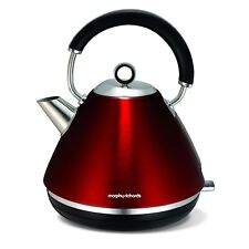 Morphy Richards 102004EE Accents Wasserkocher Pryramide Rot 1.5L 2.2kW