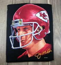 Vintage 1994 Salem L Large Joe Montana Kansas City Chiefs T-Shirt Tee Portrait