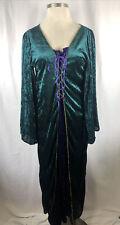 Renaissance Medieval Dress Costume Adult Plus Size 1X Green Reenactment Cosplay