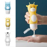 Cute Travel Silicone Bottle Shampoo Shower Gel Lotion Sub-bottling Tube Solid