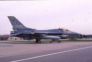 Original colour slide F-16C  60366/TJ of 16th AF USAF