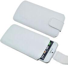 Iphone 7 Exclusiva Funda de Cuero Auténtico Blanca Cubierta Incl. Silicona