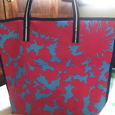 New Estee Lauder Beach Tote Bag Red Blue Floral Beach Fabric 2017
