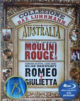 COLLEZIONE BAZ LUHRMANN -AUSTRALIA+MOULIN ROUGE+ROMEO-COFANETTO 3 BLU-RAY [dv58]