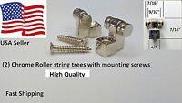 2 Premium Quality roller string retainer trees for Fender Strat,Tele & similar