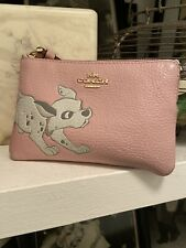 Pink Leather disney coach purse With Handle
