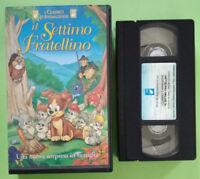 VHS Film Ita Animazione IL SETTIMO FRATELLINO Alfadedis Claudio Lippi no dvd°V28