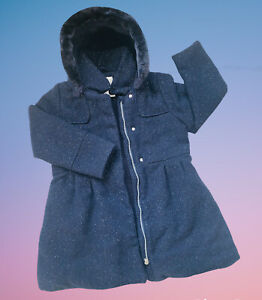 Winter Jacke Mantel Warm Gefüttert Glitzer Mädchen Verbaudet Gr.134 Top Zwilling