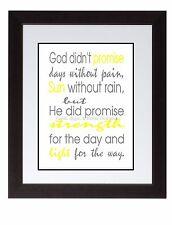 God promise Inspirational art print poster yellow sunshine strength