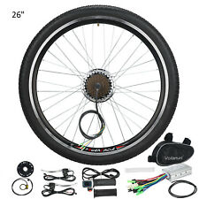 "250W Electric Bicycle Motor Conversion Kit E Bike 26"" Speed Rear Wheel Brake 36V"