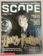 Harry Potter Chamber Of Secrets Nov 15, 2002 Scope Magazine - Daniel Radcliffe
