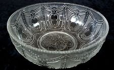 """EAPG HEISEY LOCKET AND CHAIN 8"""" NAPPY MASTER? BOWL ANTIQUE GLASS (OTR PCS AVAIL)"""