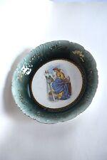 Antique Bowl, Hand Painted, Artist, Austria, Clover