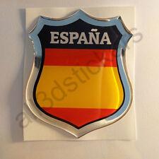 Pegatina España Emblema 3D Relieve Bandera Pegatinas España sin Escudo