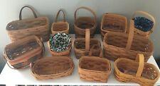 Longaberger a Dozen Mini Baskets
