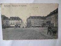 Ansichtskarte Karlsruhe Marktplatz mit Pyramide  (Nr.591)