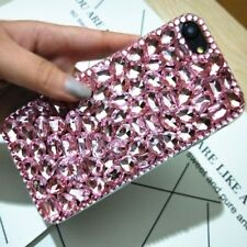 DELUX COOL LUXURY BABY PINK GREEN DIAMANTE CASE 4 VARIOUS MOBILE PHONES 7 8 9 11