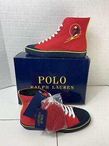 Polo Ralph Lauren Canvas Shoes Solomon Ralph Lauren 2000 Red, US Men (Size 9)D