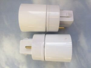 TWO PACK (2) Adapters(Converters)  to use regular CFL bulbs in an Aerogarden