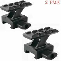 Pack of 2! 1 inch Riser Mount High Compact Picatinny Mount 3 Slots Red Dot Sight
