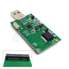 """1.8 """"Mini PCI-E mSATA per USB 3.0 External SSD PCBA Conveter adattatore carta DB"""