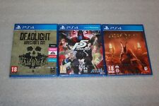 AGONY PS4 + Deadlight Director's Cut PS4 + Persona 5 PS4 NEW SEALED