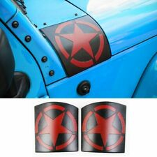 2x Cowl Body Armor Cover Accessories Parts for Jeep Wrangler JK JKU 2007-17 Red