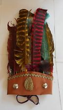 VINTAGE AND RARE INDIAN PLUMES TOY EX YUGOSLAVIA COWBOY INDIAN WILD WEST WESTERN