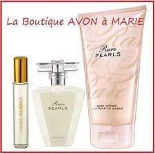 LOT EAU de Parfum RARE PEARLS + creme corps + Vapo de Sac chez AVON neuf