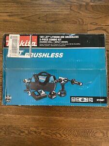 Makita XT268T 18V LXT Brushless Cordless 2-Pc. Combo Kit 5.0Ah New Unopened Box