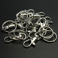10-30X Swivel Clips Lobster Clasps Trigger Snap Hook Bag Key Ring Charm