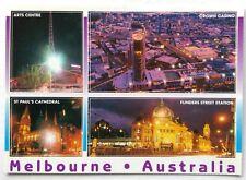 Melbourne Australia Crown Casino Arts Centre St Pauls Cathedral Postcard (P268)