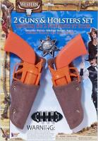 Western Toy Gun Holster Set Cowboy Fancy Dress Halloween Child Costume Accessory
