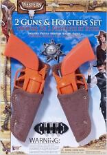 Western Toy Gun Holster Set Cowboy Fancy Dress Halloween Child Costume Accessory