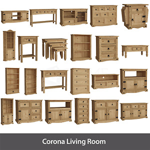 Corona TV Stand Sideboard Bookcase Coffee Table Solid Pine Living Room Furniture