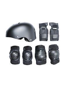 SKATEBOARD / SKATE PROTECTION SET WITH HELMET - scooter BMX elbow knee pads kids