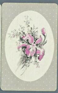 Vintage Swap Playing Card  Flowers